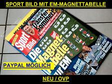 Sport Bild Nr 22 mit EM 2021 Magnettabelle EURO Fussball EM 2020 OVP EM 20 EM 21