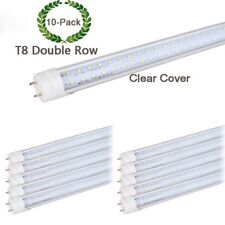 T8 Double Row Led lamp G13 Led Tube 10-pack 4FT Clear Cover Replacement Lamp 36W