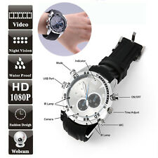 16GB Waterproof Spy Wrist Watch Mini Hidden HD DVR Video Camera Cam Camcorder US