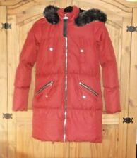 BNWT SAINT & SINNER LADIES Longer Length COAT Terracotta Jacket Size 8