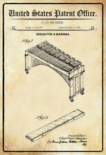 US Patent Marimba Marimbaphon 1950 Blechschild Schild Metal Tin Sign 20 x 30 cm