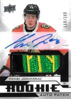 2018-19-U.D. PREMIER ROOKIE- HENRI JOKIHARJU  R.C. AUTO PATCH SP #/249  CHICAGO?