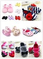 Newborn Girl Toddler Crib Princess Prewalker Baby Soft Sole Cotton Shoes 0-18M