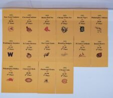 1951 Strat-O-Matic Baseball Printed Storage Envelopes with Stats and Team Logo