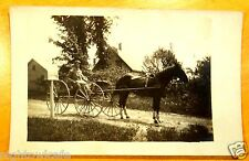 1st Day R.F.D. #2 East Dixmont Maine Mailman Horse & Buggy Photo Postcard c.1907