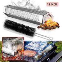 12 Inch Hexagon Smoker Tube 304 Stainless Steel BBQ Grill Smoker Wood Pellet Box