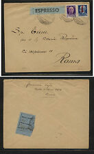 Italy   overprinted  stamps on express cover  local use         KEL0416