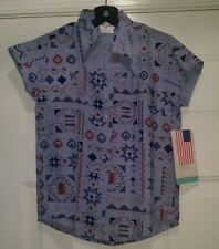 Roper NWT Girl's Multi Color Design Button Down Shirt Size 6