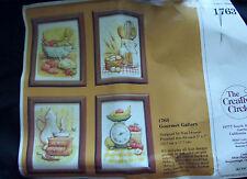 N.Uwasaki  Gourmet Gallery Stitchery Kit 4 set - NIP 1982 Creative Circle 1763