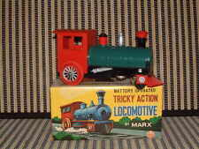 "Marx Toys, Battery Operated, ""Trickey Action Locomotive"" In Original Box/Working"