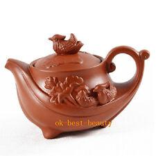 Yixing Zisha Purple Clay Tea Pot Zhu Mud Mandarin Ducks Teapot Free Shipping