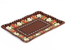"""Rectangular Stoneware Plate Appetizers Serving Platter Rustic Style 7x9"""""""