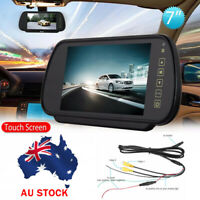 "7"" Car Rear View Monitor LCD Screen Headrest Mirror Car Bus Reversing Camera AU"