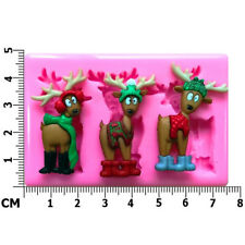 Christmas Reindeers Where's the Sleigh Silicone Mould by Fairie Blessings