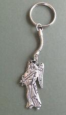Angel Pewter Keyring, Archangel Michael, hand crafted, Angel motif 4.5 x 2.5 cm