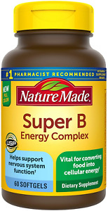 Super B Energy Complex Softgels, 60 Count for Metabolic Health
