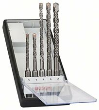 Bosch Pro 5tlg. Hammerbohrer-Set SDS-Plus-5 für Beton Mauerwerk Holz Ø 5-10 mm