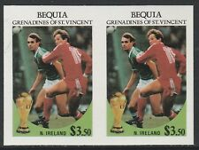 St Vincent Bequia (1978) - 1986 Worl Cup FOOTBALL IMPERF PAIR unmounted mint
