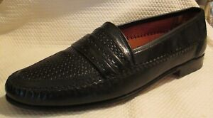 ALLEN EDMONDS Novara Woven Leather Slip On Dress Shoes Loafers 11.5 B EXCELLENT!