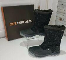 Merrell Women Sz 9.5 Silversun Black Suede Zip Waterproof Insulated Winter Boot