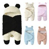 Newborn Baby Cute Cotton Receiving White Sleeping Blanket Boy Girl Wrap Swaddle