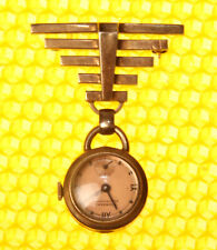 Women's Vintage TOURNEU Mechanical Hand-Wind Brooch Watch SWISS MADE <VGU>