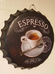 Metal Bottletop wall art with fitting Espresso Novelty Gift New40cm