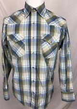 Rodeo Clothing L/S Plaid Pearl Snap Shirt Men's Medium Western Cowboy
