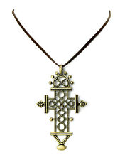 Collier Croix Chrétienne Couleur bronze - Christian cross necklace bronze color
