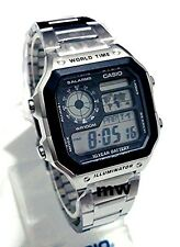Latest Casio AE-1200WHD-1A Digital World Time Man's Sports Alarms Watch Light
