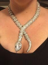 NWOT Rara Avis By Iris Apfel HSN Silver tone crystal snake serpent necklace
