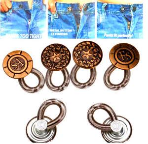 6PCS Men/Women Expanderas Jeans Pants Instant Fix Waist Extender Metal Button