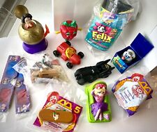 Lot of 11 90's Burger King Mcdonalds Wendy's Carl's Jr. Kids Meal Toys Disney