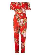Dorothy Perkins Red Oriental Print Jumpsuit Size UK 18 LF078 CC 07