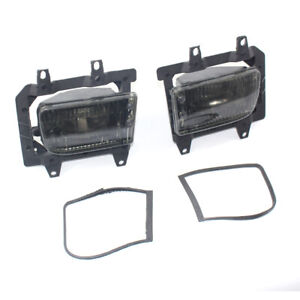 For BMW E30 3Series 85-93 Brand New Pair of Front Fog Light Smoked Lens Kit L&R