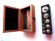 (n° 2 ) série de 9 poids anciens en inox de bijoutier, déco, collection, balance