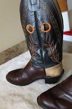 Vintage Olathe buckaroo boots Men's size 9D Made in USA