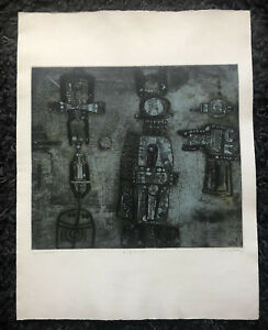 "SHOICHI HASEGAWA b1929 Artist Proof ETCHING ""Reve d'ete"""
