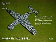 Arado Ar 240 TL V1     1/72 Bird Models Resinbausatz / Resin kit