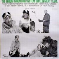 FORUM snowboard Vintage Team mounting promotional  poster Flawless New Old Stock