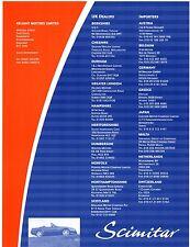 Reliant Scimitar Sabre 1994-95 UK Market Dealers & Importers Leaflet Brochure