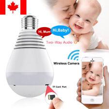Mini Wireless 360° Panoramic Security IP Camera 1080P SPY Hidden Wifi Light Bulb