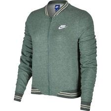 Womens Nike Sportswear Fleece Jacket Size XS S M L XL Green White 883661 365