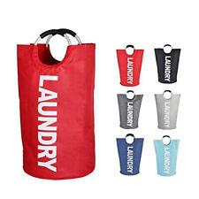 Foldable Laundry Basket 82L Folding Washing Bag Oxford Fabric Hamper (Red)