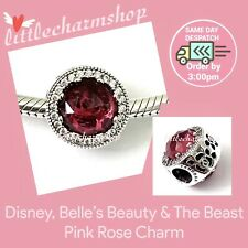 Genuine PANDORA Ale S925 Disney Belle's Radiant Rose Charm 792140NCC