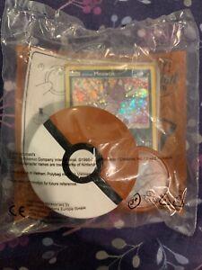 Pokemon Mcdonalds Alolan Meowth Holo Card & Sandshrew Toy Brand New & Sealed