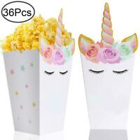 36 Pcs Popcorn Boxes Treats for Unicorn Party Favors Supplies by Standie