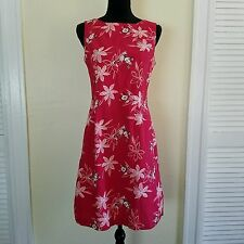 Disney Store Pink Mickey Minnie Mouse Sleeveless Floral Fit & Flare Dress Size M