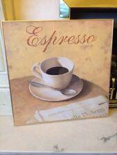Fabrice De Villeneuve-espresso-lona-Cafe - Grande Colgante de pared Arte