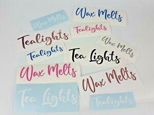 Personalised Vinyl Wax Melt/Tea Lights Decal Sticker Label Storage Box Mrs Hinch